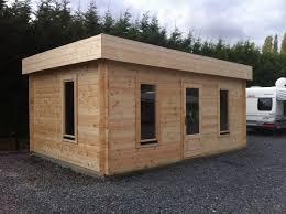 abris de jardin et chalets en bois à toit plat 4 à 16 m amexdeco