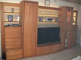 wohnwand erle massiv wohnzimmer anbauwand mit led