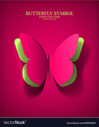 Paper Cut Out Butterfly Vector Image
