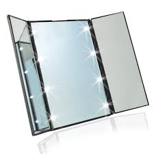 Bq059 Professional Led Makeup Mirror With Light Toilet Folding