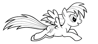 Baby Rainbow Dash Coloring Pages Awesome Pony Color My Little