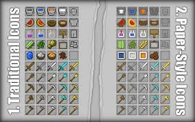After Having A Public Vote I Made The Paper Style Icons Default For This Pack But You Can Still Get Traditional By Following These