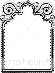 Black Lace Border Clipart