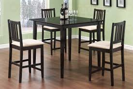 5 piece counter height dining set in cappuccino finish by coaster