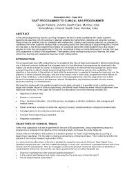 Sample Resume Sas Experience Ixiplay Free Samples