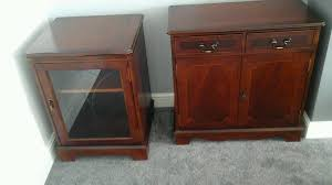 Living Dining Room Cabinet Stereo Display And Nest Of Tables Mahogany