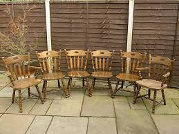 6 X Antique Vintage Liko Dining Room Chairs