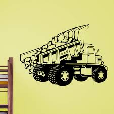 Dumper Truck Dumping Load Wall Sticker - World Of Wall Stickers Cars Wall Decals Best Vinyl Decal Monster Truck Garage Decor Cstruction For Boys Fire Truck Wall Decal Department Art Custom Sticker Dump Xxl Nursery Kids Rooms Boy Room Fire Xl Trucks Stickers Elitflat Plane Car Etsy Murals Theme Ideas Racing Art