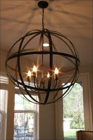 Kitchen Iron Candle Chandelier Rustic Dining Lighting Distressed