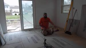 Preparing Concrete Subfloor For Tile by Installing Cement Board Subfloor U0026 Prepping For Tile Floor Youtube