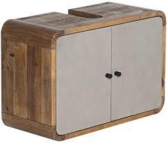 woodkings waschbeckenunterschrank dingle holz pinie rustikal und mdf betonoptik grau badezimmermöbel unterschrank badschrank badmöbel hängend für