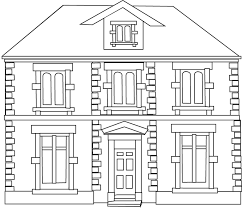 une maison ausmalbilder landschaften und häuser