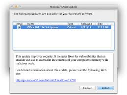 Microsoft fice for Mac 2011 14 5 4 Update Patches Multiple
