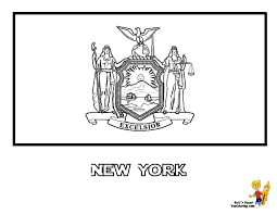 New York State Flag Coloring Page SEE The Official Photograph To Match