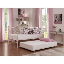 Walmart Trundle Bed Frame by Victoria Metal Daybed And Trundle White Walmart Com