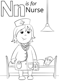 Click To See Printable Version Of N Is For Nurse Coloring Page