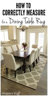 Standard Size Rug For Dining Room Table by How To Correctly Measure For A Dining Room Table Rug Rugs