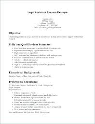 Secretary Objective For Resume Examples Immigration Legal Assistant Medical