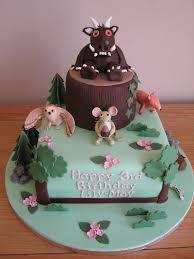 Gruffalo Birthday Cake Square And 6 Round Chocolate Spong Flickr Throughout How To Make Gruffalo Birthday Cake