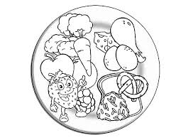 Strawberry Eating Healthy Food Coloring Pages
