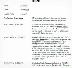 Sample Resume For Banking Jobs Freshers Cv