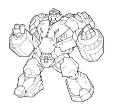 Horn Transformers Coloring Pages