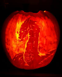 Lord Of The Rings Pumpkin Stencils by Smaug The Magnificent Pumpkin Carving By Adnaurian On Deviantart