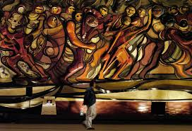 Famous Mexican Mural Artists by Commemorating Mexican Muralist David Alfaro Siqueiros Multimedia