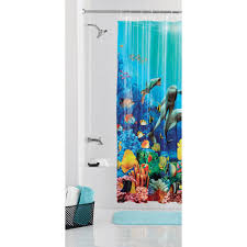 Patio Door Curtains Walmart by Mainstays Coral Reef Shower Curtain Walmart Com