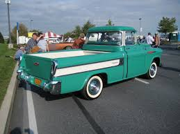 File:1957 Green Cameo Carrier (rear).jpg - Wikimedia Commons 1957 Chevrolet Cameo Pick Up Sema 2013 Youtube Carrier Classic Truck Hagerty Articles 1955 Chevy Cameo Truck Hot Rods And Restomods Chevy Pickup Rod Network Fast Lane Cars Still Truckin Survived Greensburg Tornado The Wichita Eagle 1956 3100 Volo Auto Museum Tubd Snub Nose Custom To 1958 For Sale On Classiccarscom F1971 Houston 2015