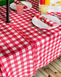 Round Patio Tablecloth With Umbrella Hole by Amazon Com Dii 100 Polyester Spill Proof And Waterproof