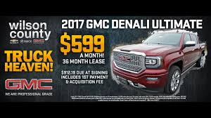 Lease A New 2017 GMC Sierra 1500 4x4 Denali 6.2L Ultimate Great ... Peach Chevrolet Buick Gmc In Brewton Serving Pensacola Fl 2018 Sierra Buyers Guide Kelley Blue Book 1500 Sle Upgrade To A New For Only 28988 Youtube 3500hd Denali Crew Cab Pickup Clarksville West Point Serves Houston Tx Hertrich Chevy Of Easton Maryland Area Dealer 2017 Pricing For Sale Edmunds Hd Powerful Diesel Heavy Duty Trucks Gold Star Salinas Ca Watsonville Monterey Boston Ma Truck Deals Colonial St Louis Herculaneum Sapaugh Gm Power