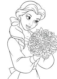 Coloring Pages Princess Disney Book Printable Colouring Sheets Online