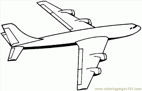 Best Coloring Airplane Pages Printable About Pictures Of Airplanes Free