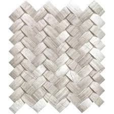 Home Depot Marble Tile by Ms International Mystic Cloud Arched Herringbone 12 In X 12 In X