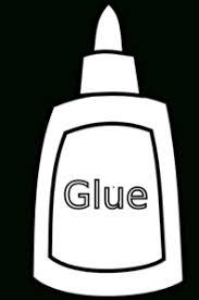 Glue Clipart Black And White