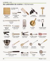 vocabulaire la maison les ustensiles de cuisine vocabulary