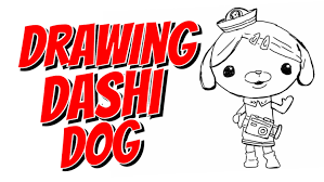 How To Draw Dashi Dog From Octonauts