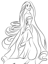 Baby Princess Rapunzel Coloring Pages 3
