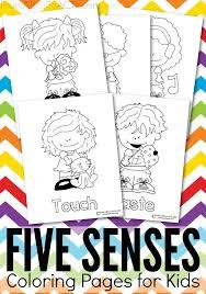 Five Senses Printable Coloring Pages