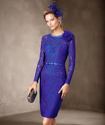 ladylike knee length dress in mikado sheathed in lace that