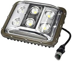 60 watt led low profile wall pack light with glare shield and 55