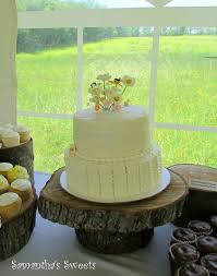Rustic Wedding Cake With Wildflowers Ruffles Cakecentral