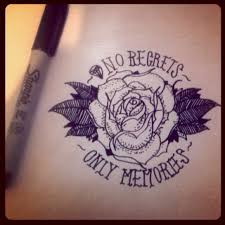 Deadlywonder No Regrets Only Memories Drawing Art Tattoo