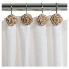 Target Curtain Rod Rings by Shower Curtain Hooks Bathroom Accessories Target