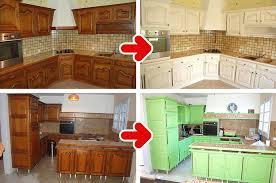 cuisine meuble bois peinture renovation meuble bois idées décoration intérieure