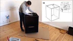 ikea metod unterschrank aufbau für einbauofen spüle küche korpus selbst aufbauen