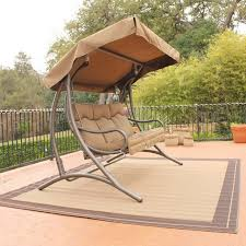 outdoor canopy swing bed deck design and ideas