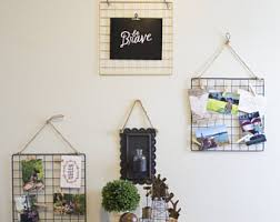 3 Wire Wall Grid Set Photo Display Jewelry Storage Dorm Decor