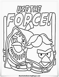 Wars Angry Birds Coloring Pages